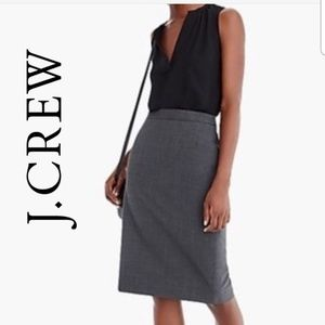 J.Crew, No. 2 Pencil Skirt, 100% Wool, Grey
